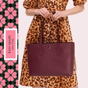 Kate Spade NWT molly large burgundy tote